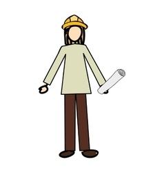 Construction engineer cartoon icon image vector