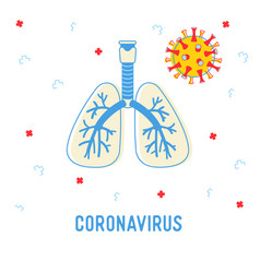coronavirus medical infographics banner with human vector image
