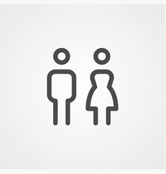 couple icon sign symbol vector image