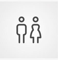 couple icon sign symbol vector image