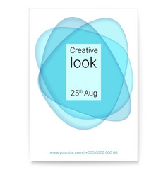 Creative look at multi layers forms cover vector
