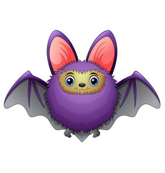 cute bat cartoon flying vector image