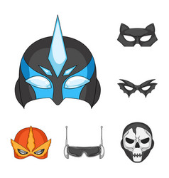 Design of hero and mask sign collection of vector