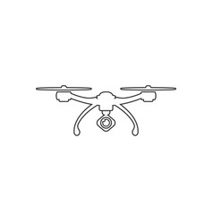 drone quadrocopter with camera outline icon vector image