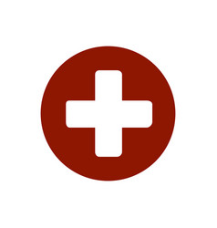 first aid medical sign flat icon for app and vector image vector image