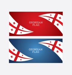 Georgian flag blue and red background il vector
