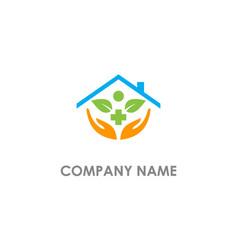 Green house medic logo vector