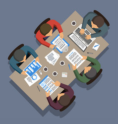 group business people working at square office vector image