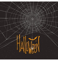 halloween background spider webb vector image