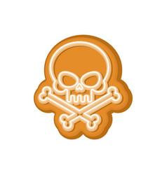 halloween cookie skull cookies for terrible vector image