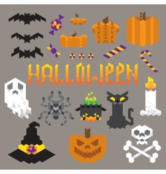 Halloween geometric set vector