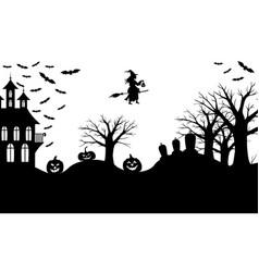 halloween greeting banner vector image