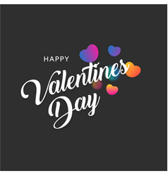 happy valentines day greeting banner with colorful vector image