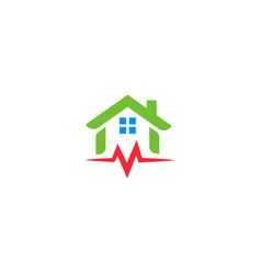 Home repair logo house renovation emblem vector