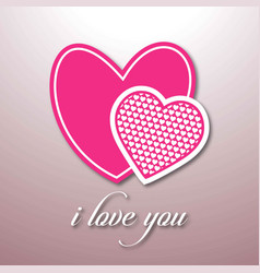 i love you typogrpahic card with hearts vector image