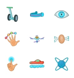 Innovative device icons set cartoon style vector image
