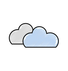 isolated clouds design vector image