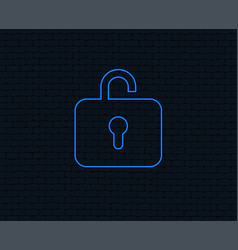 Lock sign icon login symbol vector