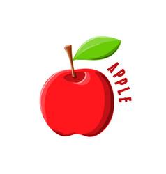 logo icon design apple farm vector image