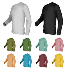 Long sleeve blank t-shirt template vector