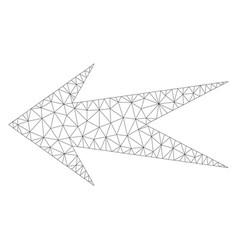 mesh arrow left icon vector image