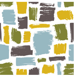 modern seamless pattern with blue green yellow vector image