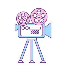 Movie camera to projection scene vector