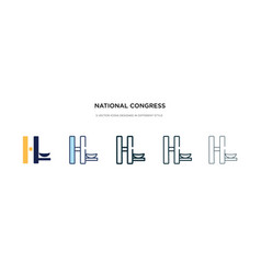 National congress brazil icon in different vector