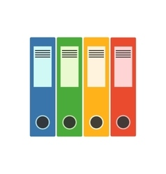 Office folder flat icon vector image