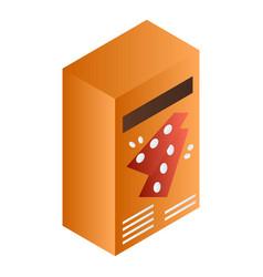 Orange cracker box icon isometric style vector