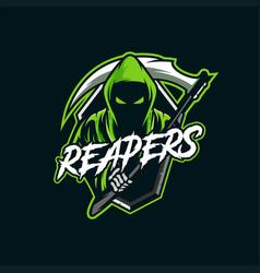 reapers mascot esport logo vector image