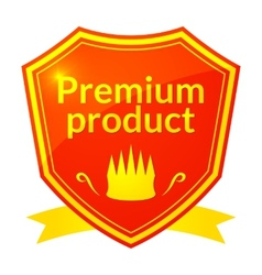 Retro premium product label vector image