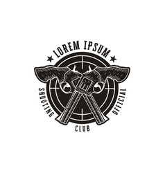Rough hand drawn shooting club logo hunter logo vector