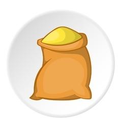 Sack of flour icon cartoon style vector