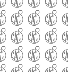 Seamless pattern with compass vector