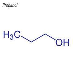 Skeletal formula propanol antimicrobial vector