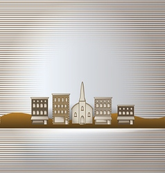 Small town background vector image