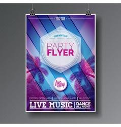 Summer beach party flyer design vector