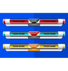 template scoreboard design vector image