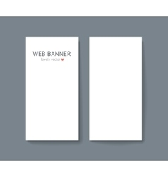 template set of vertical web vector image