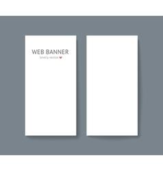 Template set of vertical web vector