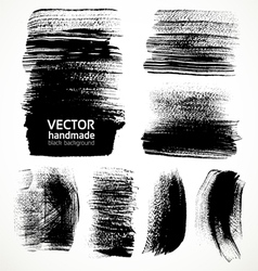Textured brush strokes brush and ink vector image vector image