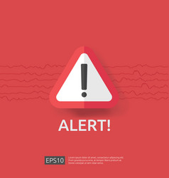 Warning alert sign with exclamation mark symbol vector