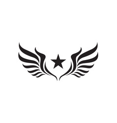 Wing logo template vector