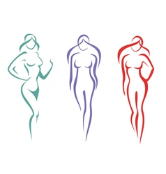 beautiful woman symbols set vector image vector image