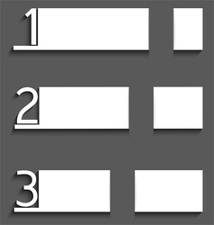 Infographic white paper with numbers vector image vector image