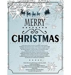 Snowlfake Christmas background vector image vector image