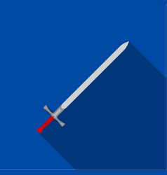 two-handed sword icon flate single weapon icon vector image