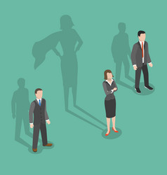 woman leader flat isometric concept vector image