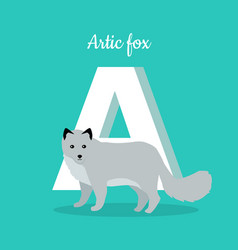 animals alphabet letter - a vector image vector image